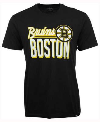 '47 Men's Boston Bruins Script Splitter T-Shirt