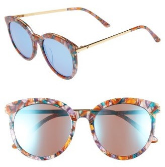 Women's Gentle Monster Vanilla Road 54Mm Rounded Sunglasses - Red/ Gold $230 thestylecure.com
