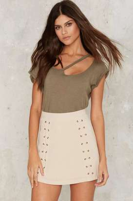 Factory Double Cross Me Lace-Up Skirt $48 thestylecure.com