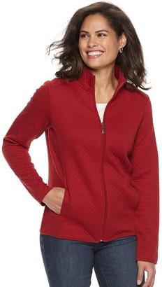 Croft & Barrow Women's Quilted Zip-Front Jacket
