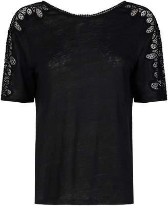 Sandro Lace Trim T-Shirt