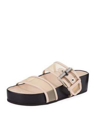 Rag & Bone Evin Mesh Platform Two-Band Ergonomic Slide Sandal
