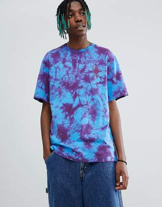 Billionaire Boys Club Bleached T-Shirt With Ideal Back Print In Blue