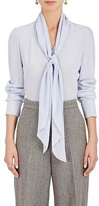 Chloé Women's Silk Crêpe De Chine Scarf-Neck Blouse