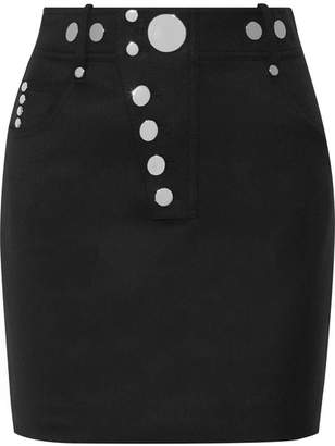 Alexander Wang Studded Wool-blend Mini Skirt - Black