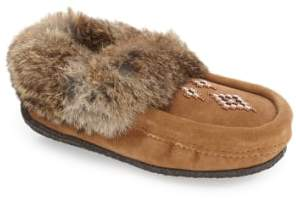 Manitobah Mukluks Genuine Shearling and Rabbit Fur Mukluk Slipper