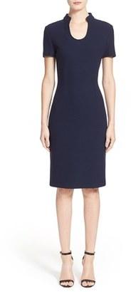 St. John Collection Micro Bouclé Sheath Dress $895 thestylecure.com