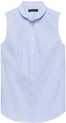 Banana Republic Riley-Fit Sleeveless Tuxedo Shirt