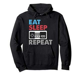 Video Gamer Gaming Hoodie Men Boys EAT SLEEP GAME REPEAT