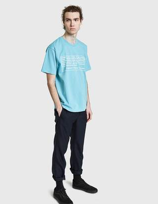 Des A Statement of Purpose Tee in Light Blue