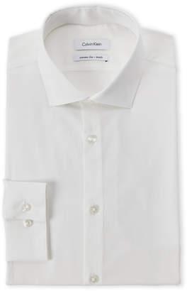 Calvin Klein White Extra Slim Fit Dress Shirt
