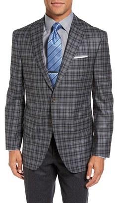 Men's David Donahue Connor Classic Fit Plaid Wool Sport Coat $595 thestylecure.com