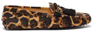 Tod's Gommino Leopard Print Loafers - Womens - Leopard