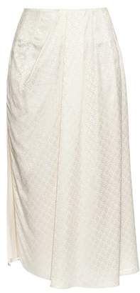Balenciaga Multi Jacquard Pleated Skirt - Womens - Cream