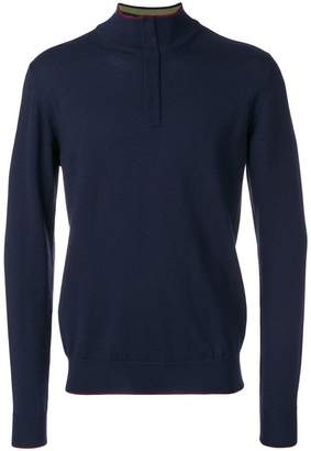 Etro zipped collar jumper