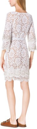 Michael Kors Crystal-Embellished Scalloped-Lace Shift Dress