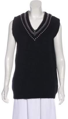 Alexander Wang Embellished Sweater Vest Black Embellished Sweater Vest
