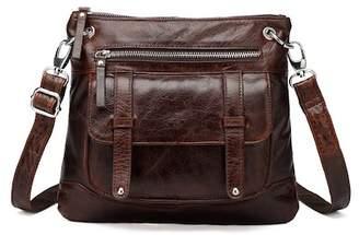 Vicenzo Leather Ella Distressed Leather Crossbody