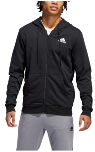 adidas Men's Climalite French Terry Full Zip Basketball Hoodie