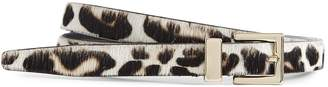 Reiss BLOSSOM LEATHER LEOPARD PATTERNED BELT Leopard Print
