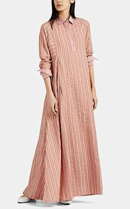 Thierry Colson Women's Tiziana Fringe-Striped Cotton-Blend Caftan - Pink