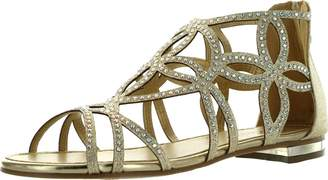 Forever Link Forever Tory-63 Womens Cut Out Back Zip Flat Sandals