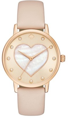 Women's Kate Spade New York Metro Mother-Of-Pearl Heart Watch, 34Mm $195 thestylecure.com