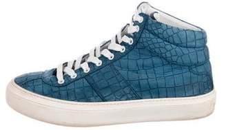 Jimmy Choo Leather Embossed Sneakers