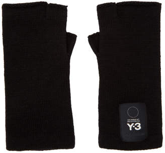 Y-3 Y 3 Black Logo Gloves