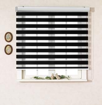3.1 Phillip Lim Foiresoft Custom Cut to Size , [Winsharp Basic , black , W x H 64 (Inch)] Horizontal Window Shade Blind Zebra Dual Roller Blinds & Treatments , Maximum 91 Inch Wide by 103 Inch Long