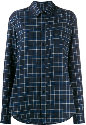 Martine Rose check print long-sleeved shirt