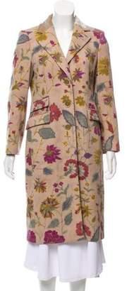 Etro Wool Floral Print Coat