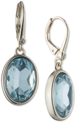 DKNY Silver-Tone Colored Crystal Drop Earrings, Created for Macy's