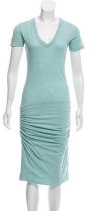 Monrow Jersey Midi Dress