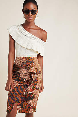 ADI Atsu Ruffled Pencil Skirt