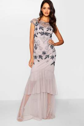 boohoo Tall Boutique Embellished Maxi Dress