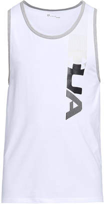 Under Armour Men's Charged Cotton Metallic-Logo Tank Top