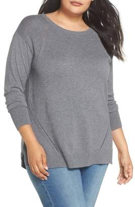 Caslon Button Back Tunic Sweater