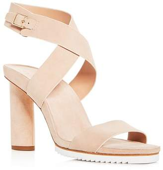 Halston Women's Nala Suede Ankle Wrap High-Heel Sandals