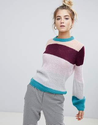 Paige Willow And Willow & lightweight knitted stripe sweater