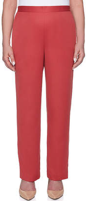 Alfred Dunner Sunset Canyon Womens High Waisted Wide Leg Pull-On Pants