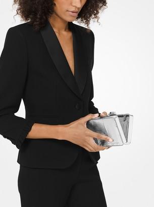 Michael Kors Metallic Snakeskin Box Clutch