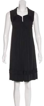 Burberry Notch-Lapel Surplice Dress