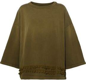 Current/Elliott Oversized Pompom-Embellished Cotton-Jersey Sweatshirt