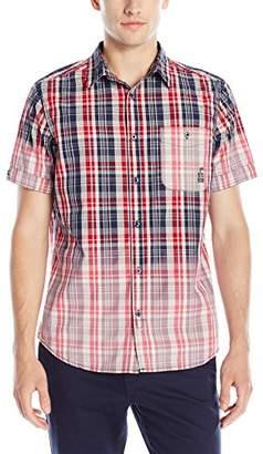 Buffalo David Bitton Men's Simid Short Sleeve Button Down Shirt