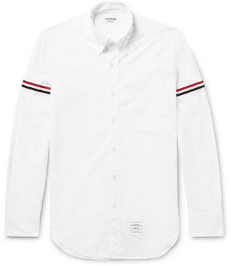 Thom Browne Grosgrain-Trimmed Cotton-Poplin Shirt