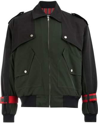 Andrea Crews tie cuff military jacket