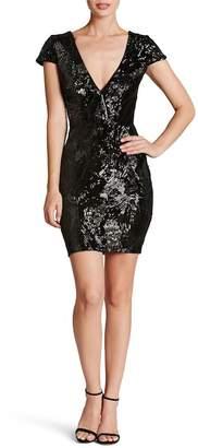Dress the Population Zoe Plunge Sequin Velvet Bodycon Dress