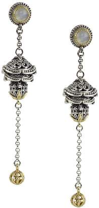 Konstantino Women's Erato Labradorite, 18K Yellow Gold and Sterling Silver Dangle Earrings