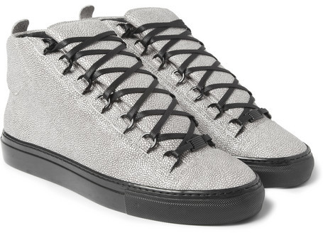 Balenciaga Arena Stingray-Print Leather Sneakers